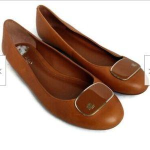 Lauren Ralph Lauren brown leather ballet flats